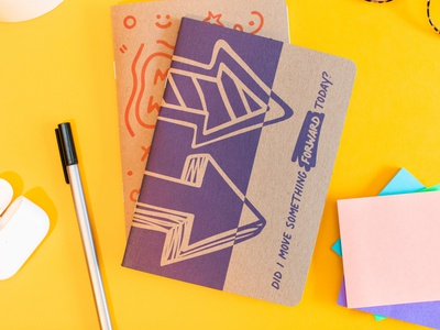 Manager Weeklies Notebooks print design brand identity rough icons icons sketches doodles scout books notebooks branding