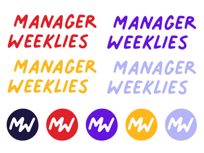 Manager Weeklies Logo & Submark scout books notebooks red hand drawn brand identity branding submark logo