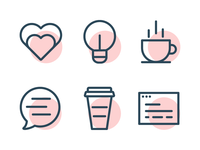 Code & Coffee Event Icons