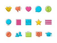 DjangoCon US '18 Icons