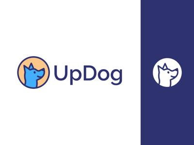 UpDog Logo text logo product marketing mark dog branding logo