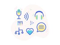 Happy Podcast Icons