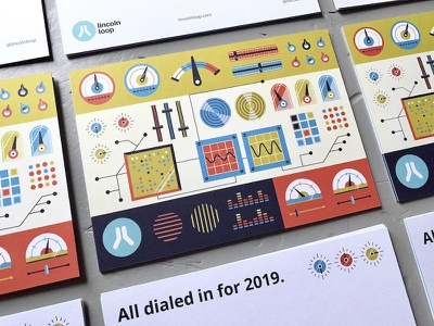 LL New Year Cards '18 marketing holiday cards holiday new year postcards dashboard control panel dials