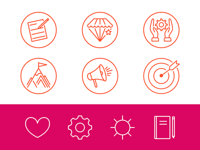 Copywriter Icons outline icon linedrawing copywriting copywriter pr marketing icons