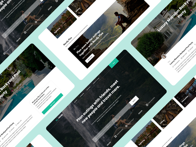 Platform to Plan Outings with Friends & Travel More ui design ui web css html web design creative ux design modern design