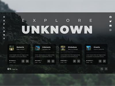 Explore Places Platform Landing Page Design trip explore ux design ux web css inspiration creative web design ui modern html design