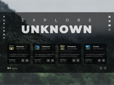 Explore Places Platform Landing Page Design