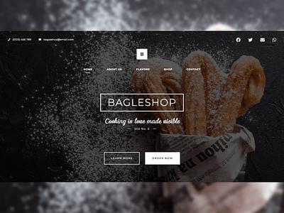 Bagle Shop Website Landing Page Design ux typography branding logo illustration ux design web inspiration css creative web design ui modern html design