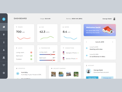 Smart Home Modern Dashboard UI Design
