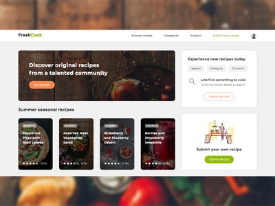 Cooking Recipes Platform UI Design