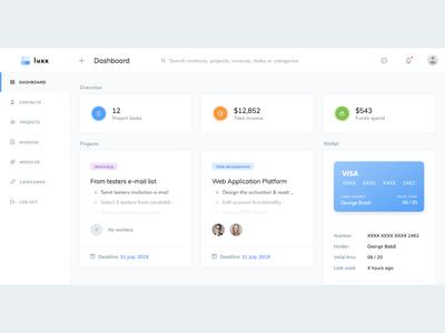 Project Management Dashboard UI Design