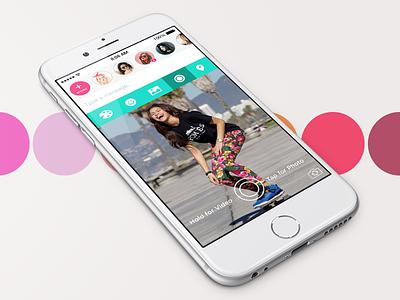 Script iOS mobile ux ui messaging video teen app ios