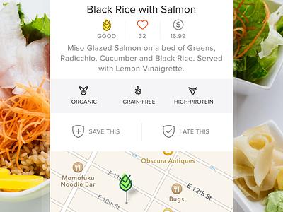 Dish Detail Screen yum app food ios