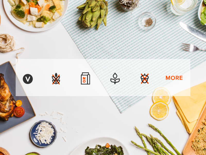 Dietary Restriction Icon Set app ios food on-demand