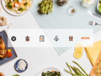Dietary Restriction Icon Set