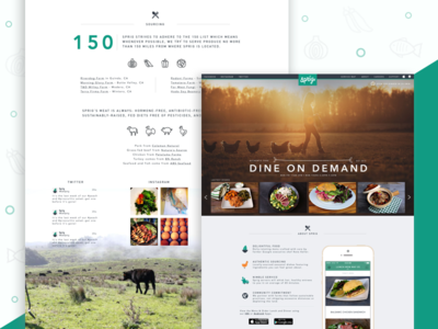 Online Meal Ordering -  Dine On Demand branding food on-demand online ordering