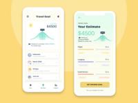 Travel Estimator app machine learning gamification goals fintech