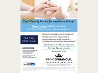 Prince Financial Life Insurance Flyer