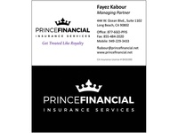 Prince Financial Business Card