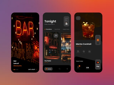 Choose your Drink onboarding onboard uidesign ux  ui uxui bars bar drinking drinks application app design app colors palette colorful branding ux ui designs designer design