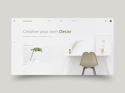 Decorcreative furniture uiux clean decoration decorative slider website design burger menu decorate decor colorful color branding webdesign web ux ui design