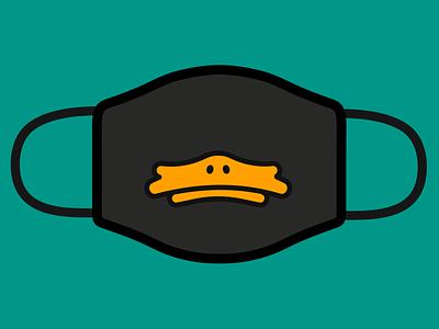 Duck Face - Design for Good Face Mask black orange aqua playoff awesome merch design for good face mask coronavirus covid mask duck duckface duck face