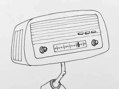 Inktober: radio(head) cartoon white black radio inktober2020 inktober ink
