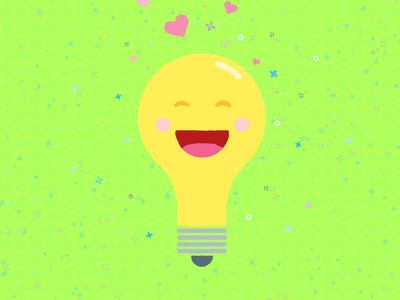 I love you watts rough pun love illustration vector cute heart bulb blue purple pink green yellow light bulb anniversary