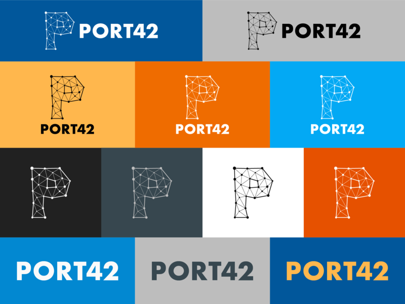 Port42 logo design