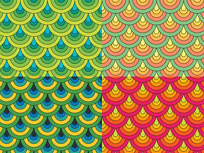 Pattern 001: Scales patterns peacock pink orange yellow blue green scale pattern