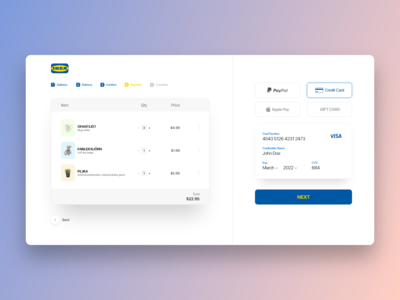 Credit Card Checkout — Daily UI 2
