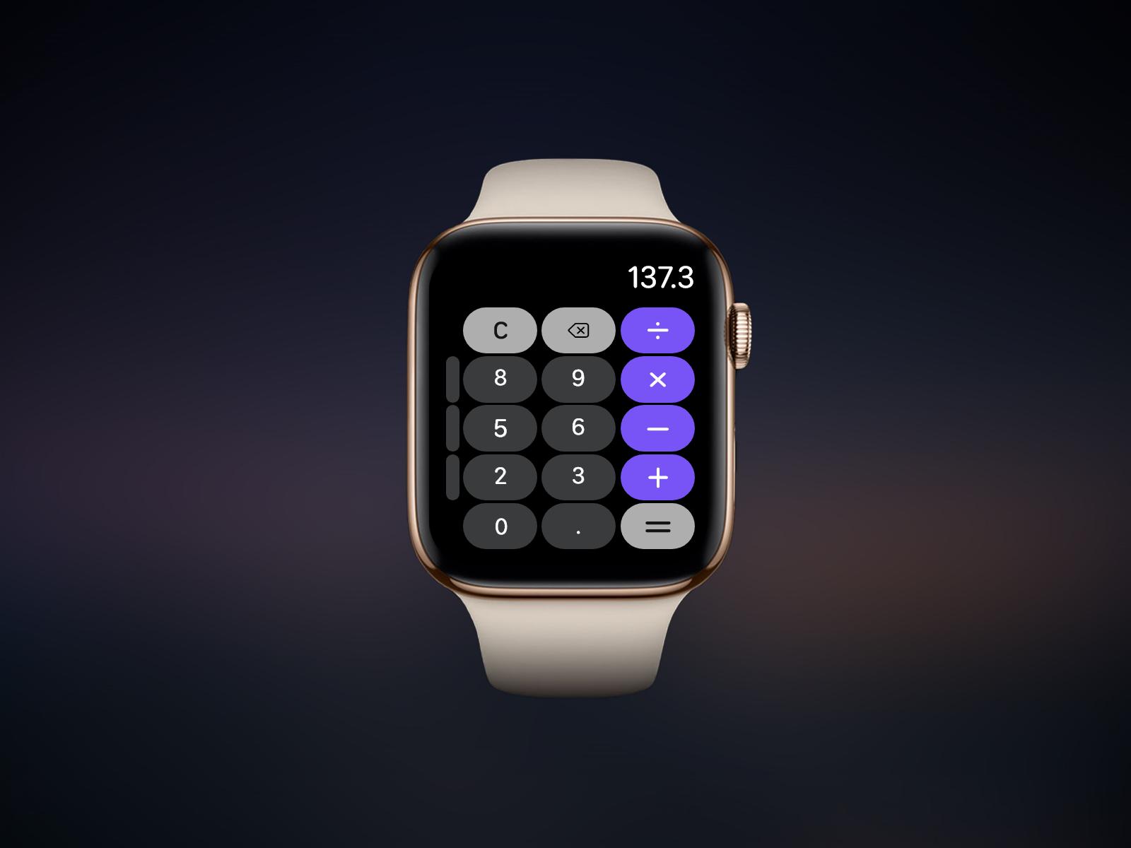 Apple Watch Calculator - Daily UI 4 by Abdelrahman Abudahesh