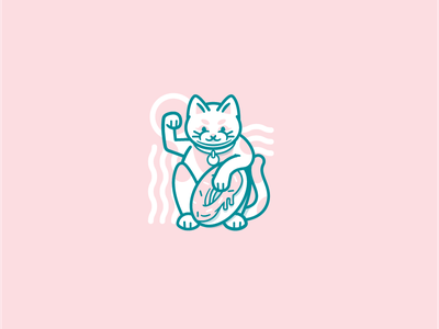 Donut Cat colors pink donut logo character drawing illustration cat