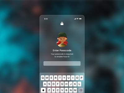 Glassmorphism iOS Lockscreen lockscreen apple glassmorphism xd design xdcreativechallenge