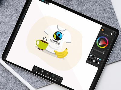 Ipad Icondesign Landesgartenschau 2020 digitalart fairtrade ipad icondesign sustainability design illustration