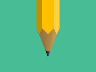 Pencil pencil flat illustration