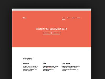 Brick brick fonts webfonts site minimal launch