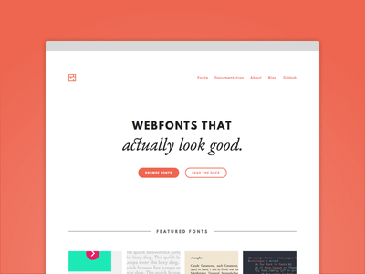 It's real! site simple whitespace brick fonts landing page