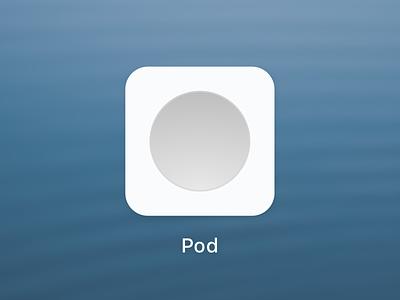 Pod skeuomorphism abstract minimal throwback ios icon