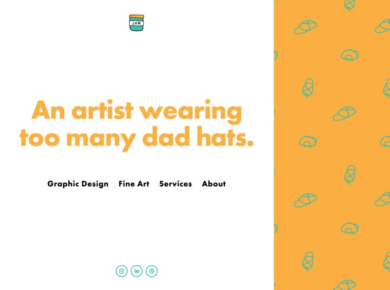 Portfolio Landing Page with Dad Hats