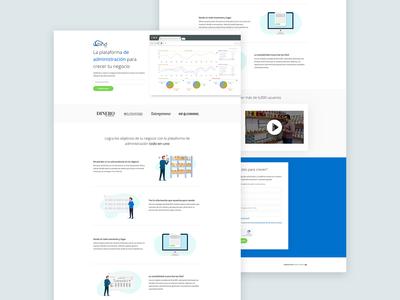 Landing page - Bind ERP
