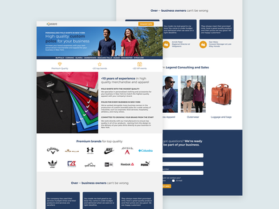 Landing Page Design - Custom Merchandise