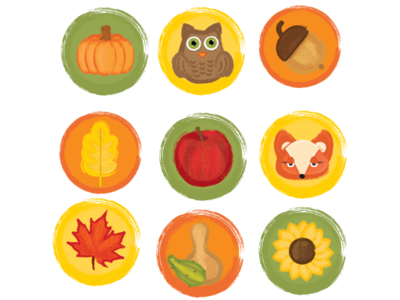 Rustic Fall Icons