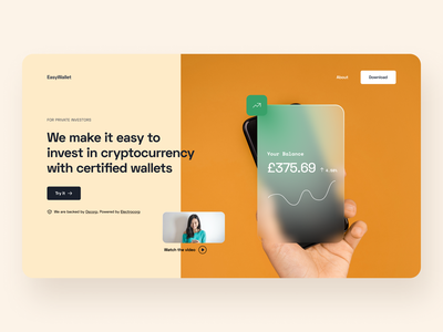Day 23 of #30daysofwebdesign website design webdesign cryptocurrency figma 30daysofdesign wallet crypto wallet crypto 30daychallenge web design website clean minimal ui typography design