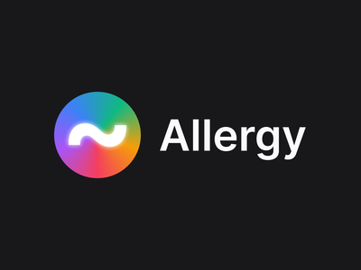 Logo for Allergy project practise in Figma allergy logo branding web figma web design website simple concept typography clean ui minimal design