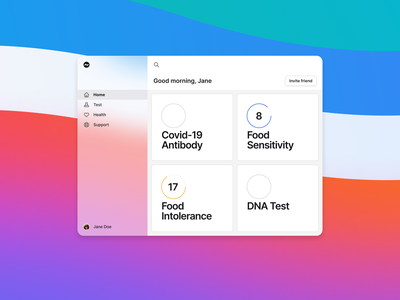 Allergy app home dashboard page project dashboard app dashboard ui dashboad web figma web design website simple concept typography clean ui minimal design