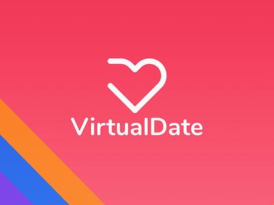 Logo Virtual Date in Figma branding design branding figma web design website simple concept typography clean ui minimal design