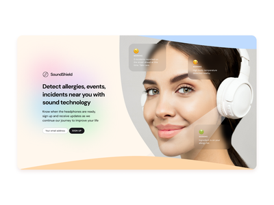 Practise Project Design Trend Kawaii Headphones Website beginner tutorial webdesign web web design figma website simple concept typography clean ui minimal design