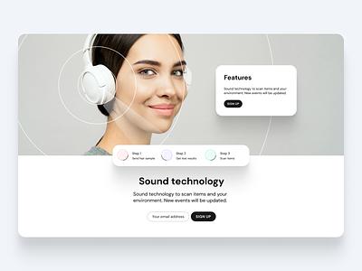 Design project sound tech in Figma web web design figma website simple concept typography clean ui minimal design