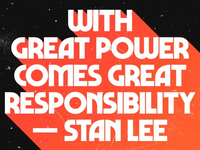 Stan Lee With Great Power - Free Wallpaper